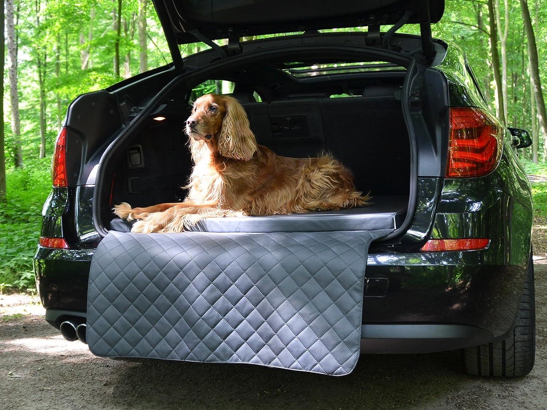 Mypado Travelmat City Kofferraum Hundematte Fürs Auto Visco Spezialschaumstoff Kunstleder Versch Größen Farben Grau 100 X 80cm Haustier