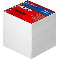 Herlitz Bloc-notes, encollé avec couverture, 1article sous film, 900feuilles, 9x9cm, blanc 900 Blatt weiß