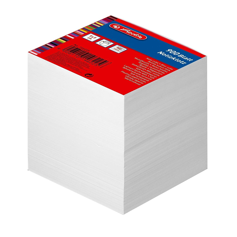 encoll/é avec couverture 9/x/9/cm 1/article sous film 900/feuilles blanc 700 Blatt color/é Herlitz Bloc-notes