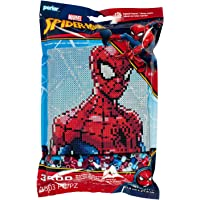 Perler Beads Marvel Spiderman Pattern and Fuse Bead Kit, 11'' X 11'', 3503Pc