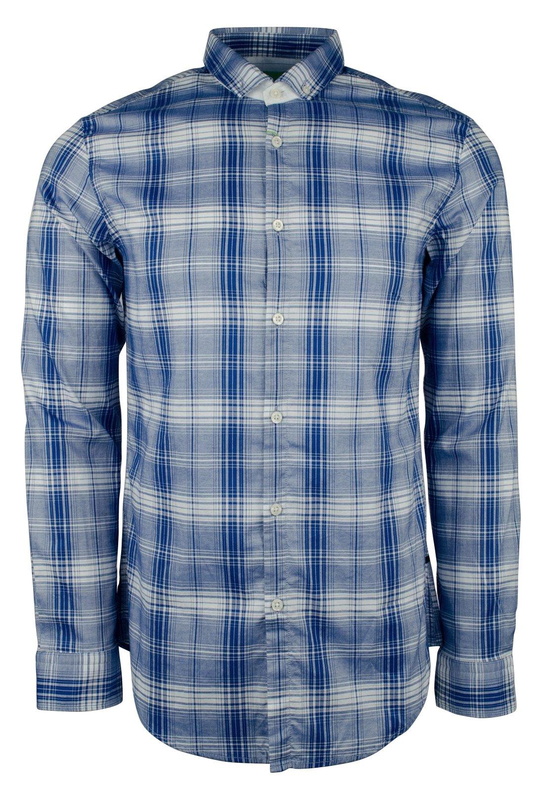 Hugo Boss Men's Green Label C-Bilia Plaid Slim Fit Shirt-OB-XXL