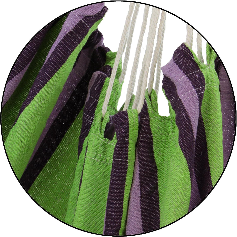 BB Sport H/ängestuhl H/ängesessel Textil H/ängeschaukel H/ängesitz Drehwirbel Holz Querstrebe Indoor Outdoor bis 150 kg Wetterfest UV Best/ändig Farbe:Chocolate