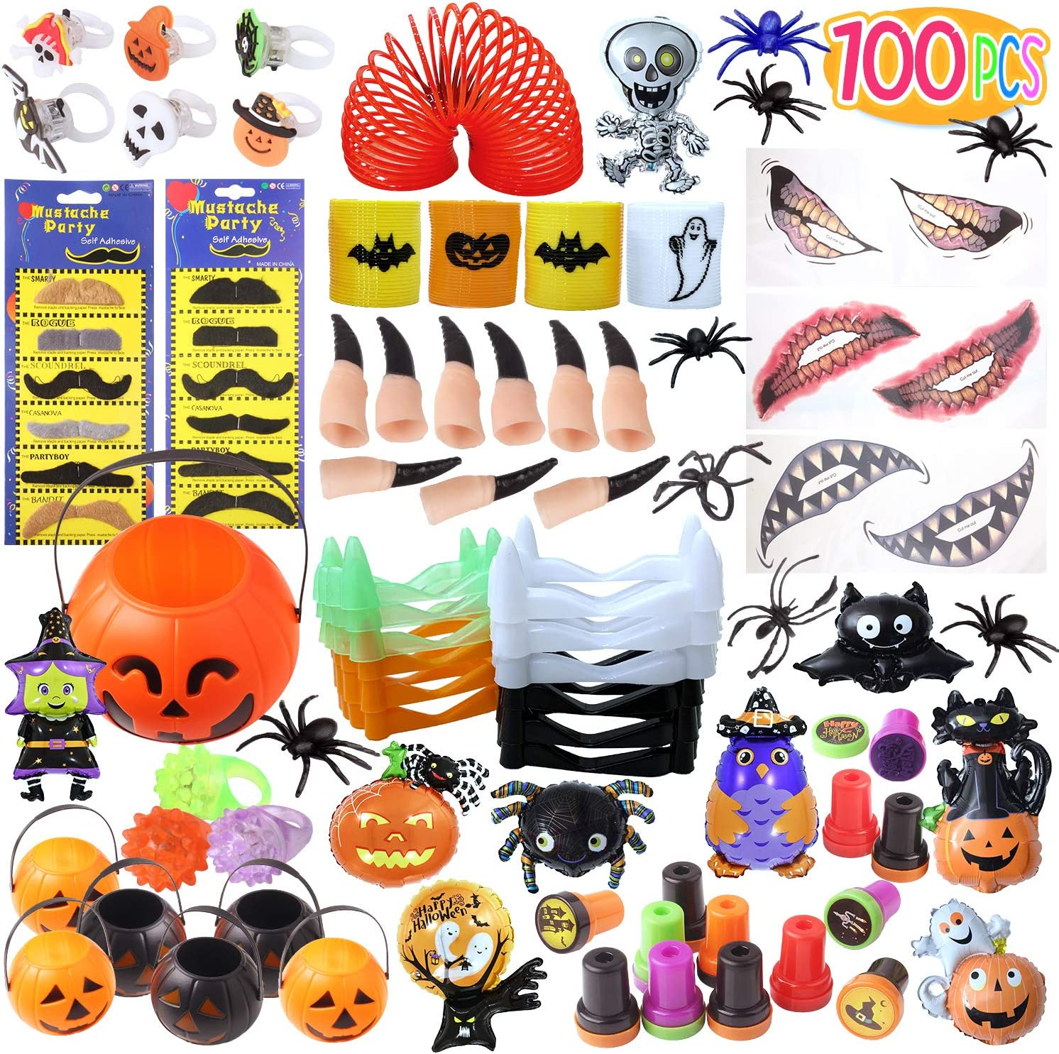 PITAYA Juguetes de Halloween,Suministros para Juguetes de Fiesta de Halloween, Bolsa de Regalo de Juguete de Halloween Trick or Treat