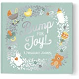 """Guided Pregnancy Journal by Studio Oh! - Bump for Joy - 9"""" x 9"""" - Beautifully Illustrated Hardcover Journal with Storage Pock"""