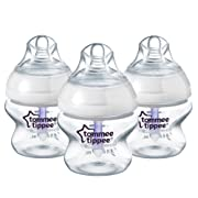 Tommee Tippee Closer to Nature Anti-Colic Bottles, 5 Ounce, 3 Count (Packaging may vary)