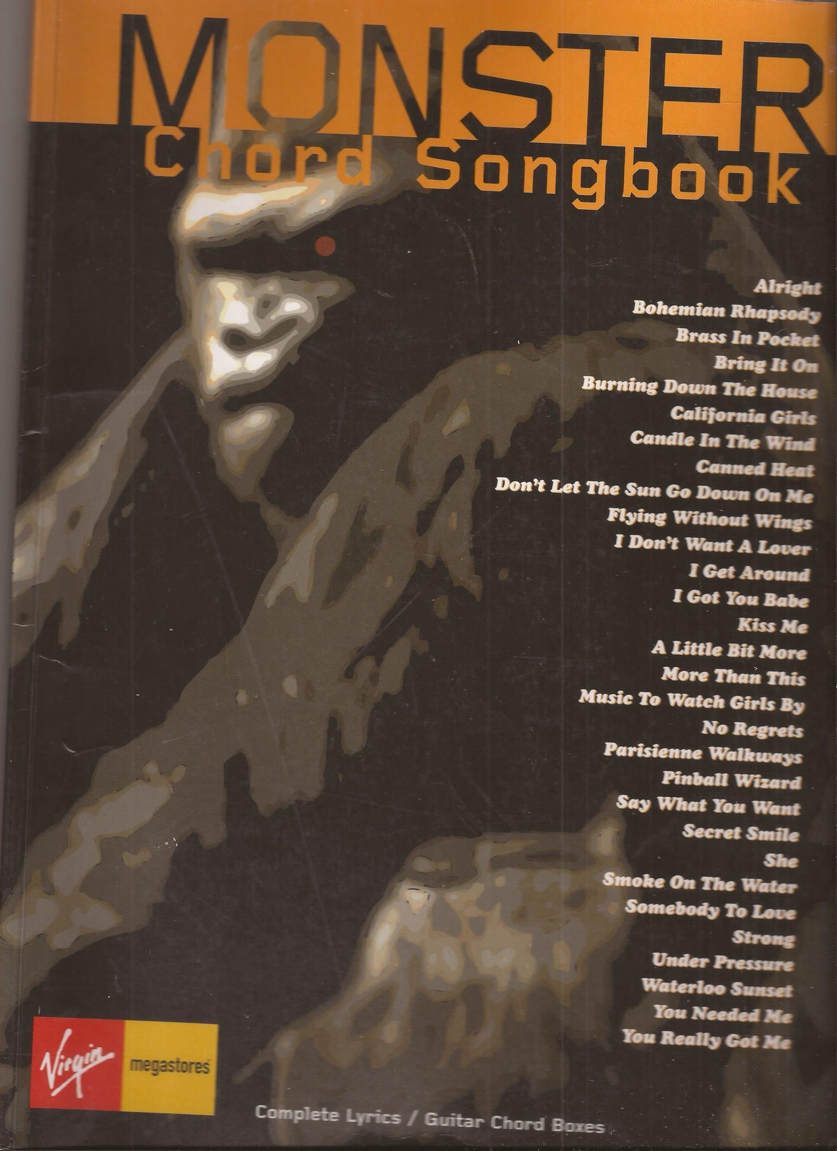 Monster Chord Songbook Amazon 9781859099438 Books