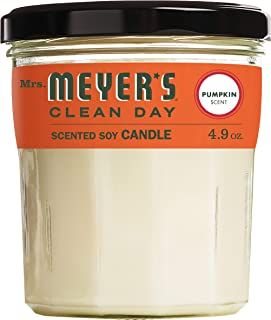 product image for Mrs. Meyer's Clean Day Scented Soy Candle Small Glass, Pumpkin, 4.9 Ounce