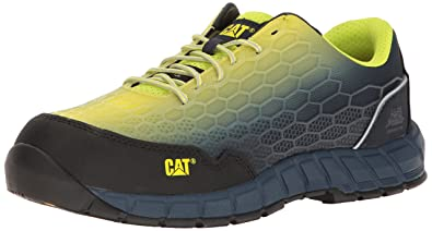 c187417da04 Caterpillar Men's Expedient Comp Toe / Lime Blue Work Shoe