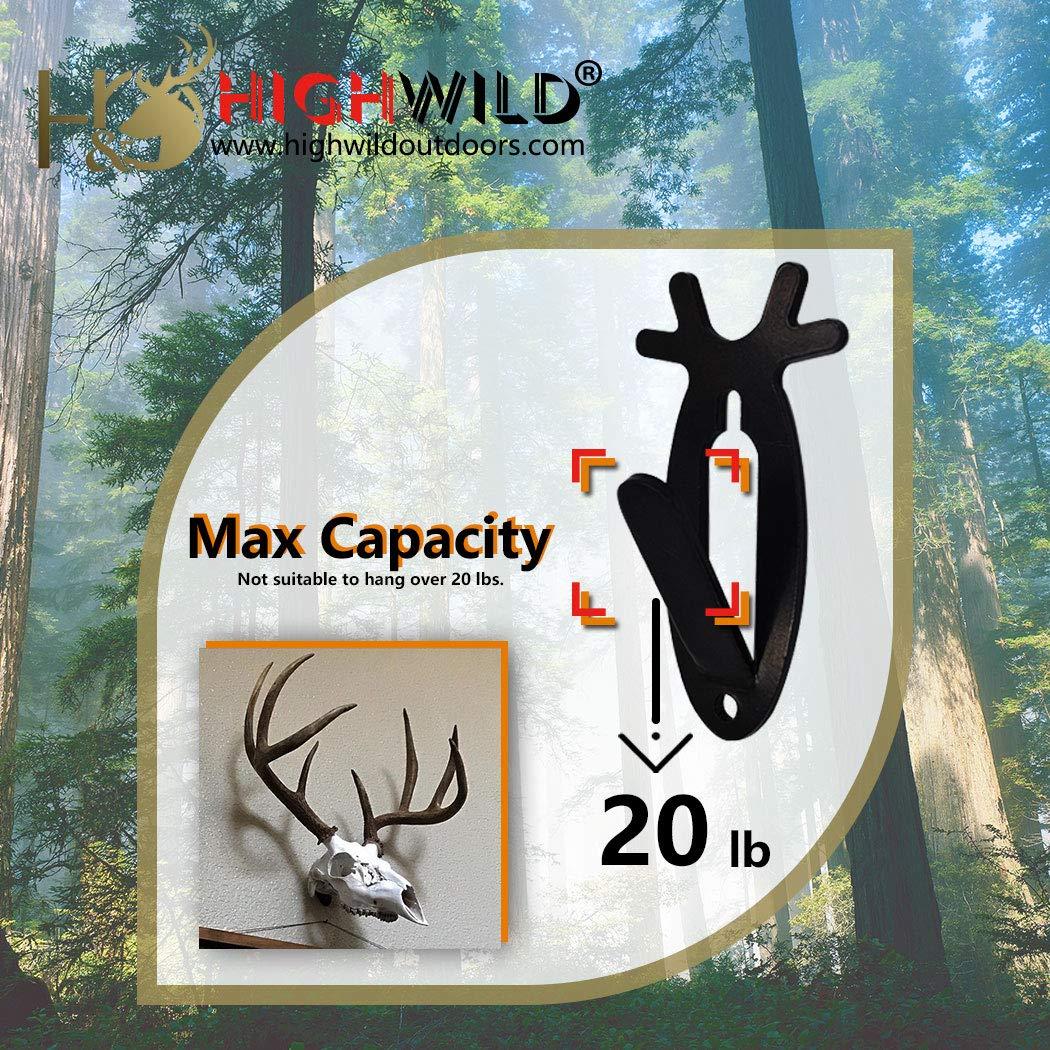 Highwild European Mount Skull Hanger, Antler Style, 1 Pack | 3 Pack