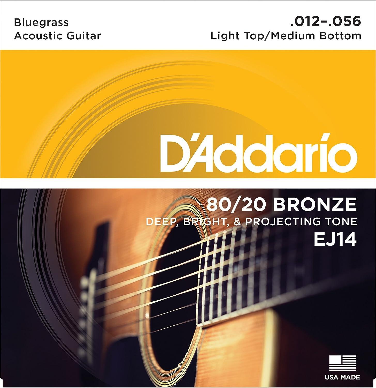 d addario ej14 80 20 bronze acoustic guitar strings