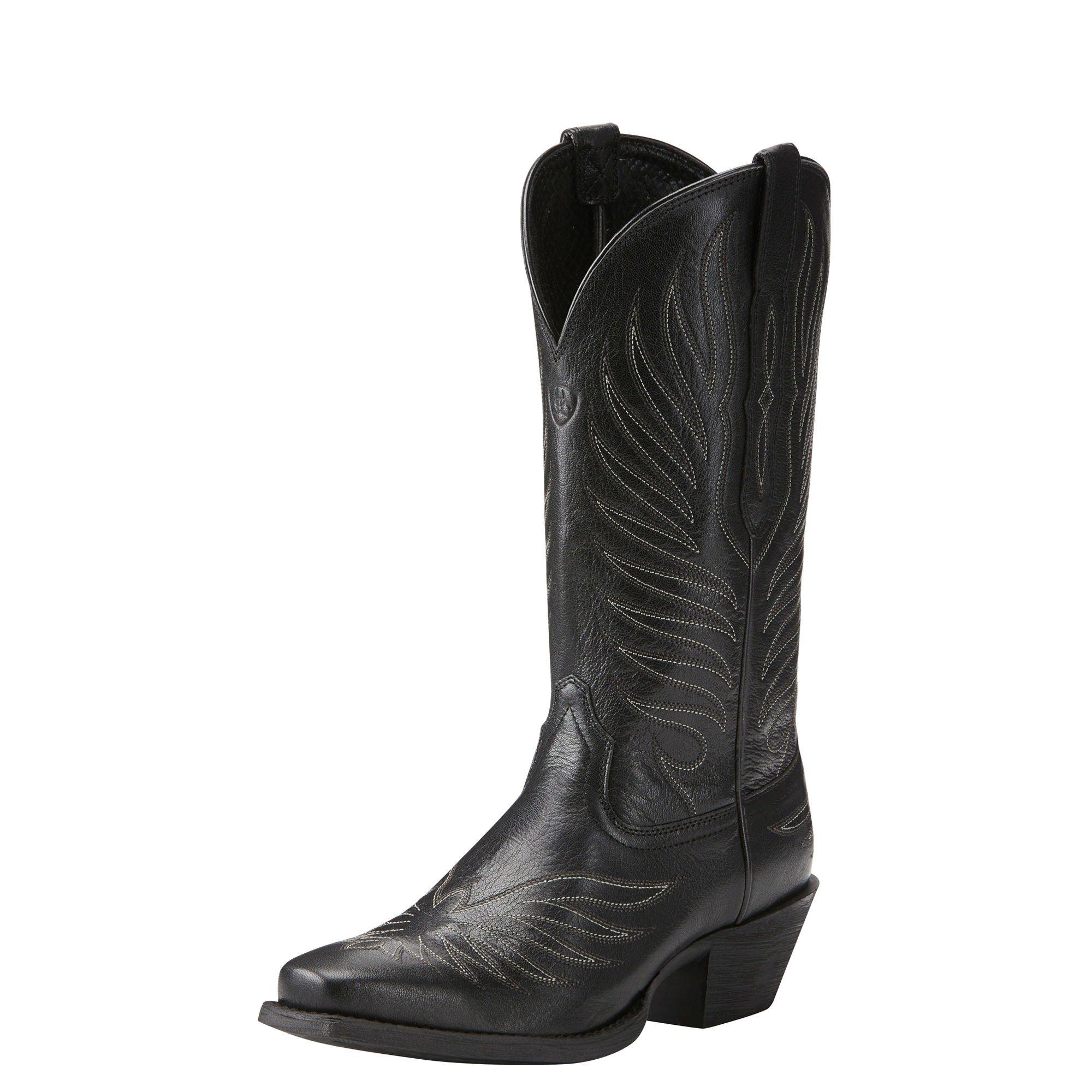 Ariat Women's Round up Phoenix Work Boot, Old Black, 8 B US by Ariat