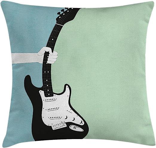 DCOCY Funda de cojín con diseño de guitarra eléctrica, ideal para ...