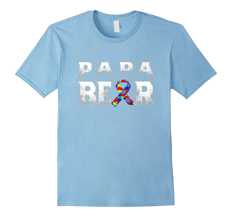Autism Awareness Papa Bear Shirt-TH