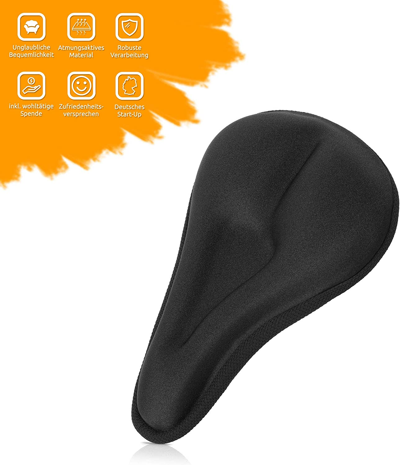 Bicycle Saddle Cover Slim /& Padded for Men and Women MR Goods/® Introductory Price Bicycle Saddle Gel Cover Black Gel Saddle Cover Comfortable and Soft