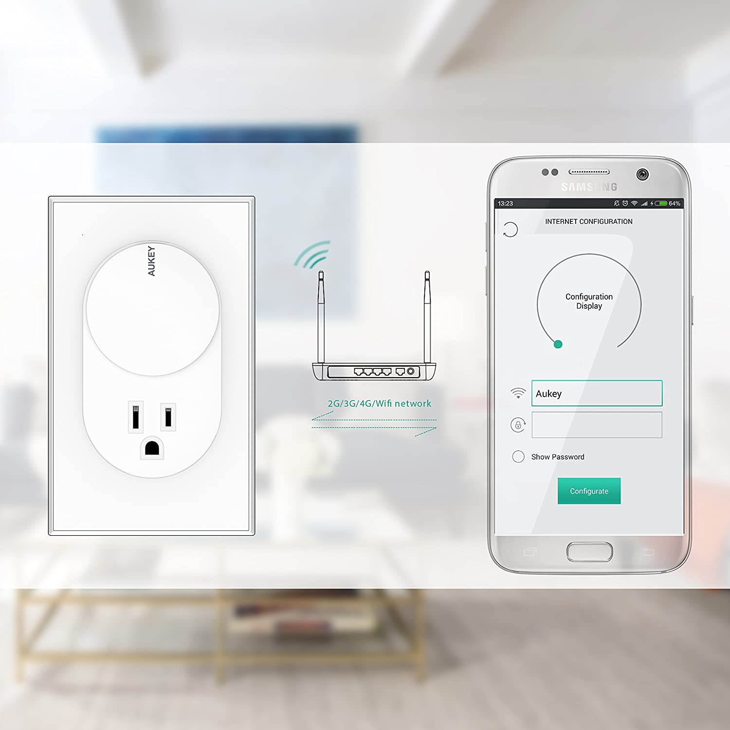 AUKEY WiFi Switch, Smart Plug with 2 USB Ports and Mobile App for 2.4GHz WiFi Networks - - Amazon.com