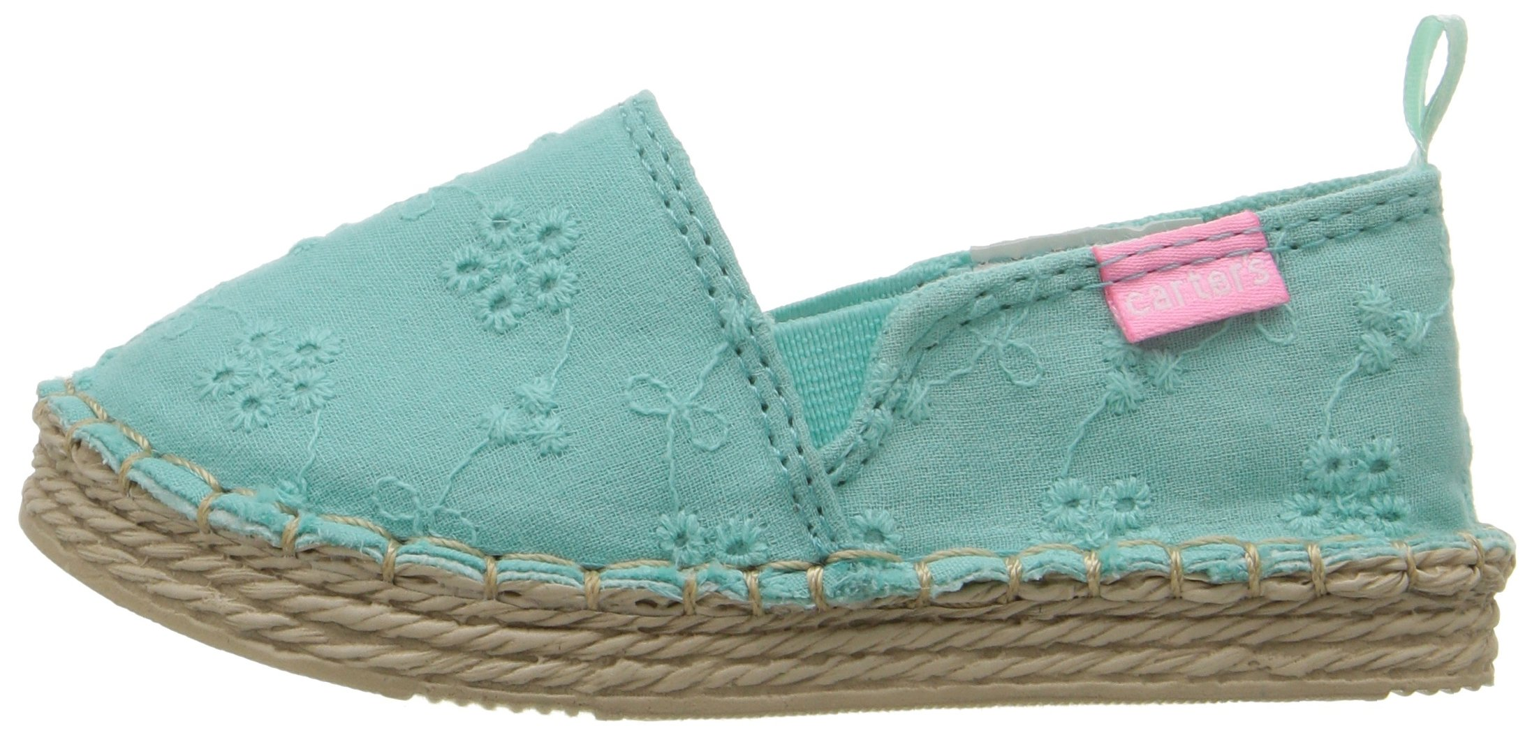 Carter's Astrid Girl's Espadrille Slip-On, Turquoise, 10 M US Toddler by Carter's (Image #5)