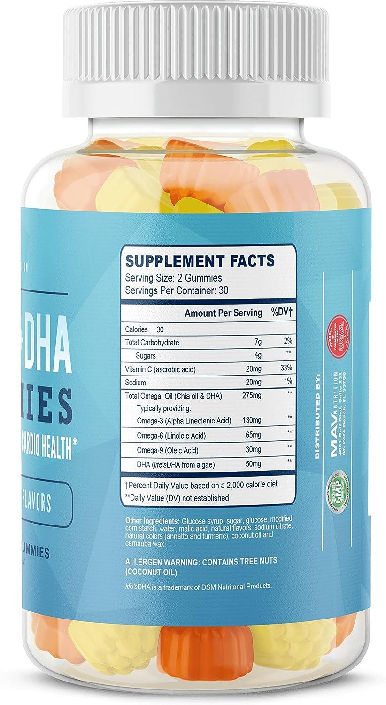 Amazon.com: MAV Nutrition Aceite de pescado omega 3 gomitas ...
