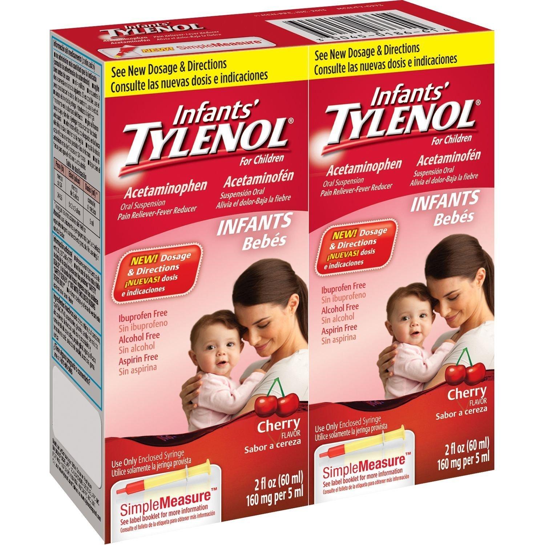 Infants Tylenol, Cherry, 2 floz (Pack of 2)