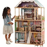 KidKraft 65956 Charlotte Dollhouse with Ez Kraft Assembly Dollhouses, Multicolor, 32.5 x 11.8 x 49