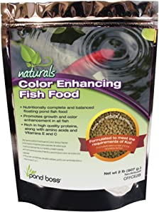 POND BOSS CFFCE2B Color Enhancing Fish Food, 2-Pound