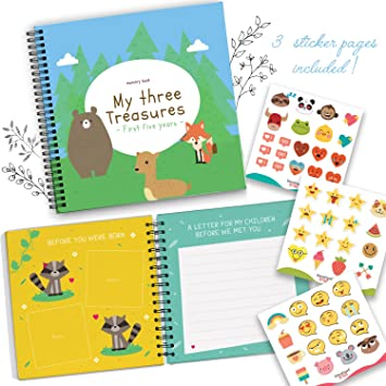 Amazon triplets first five years memory book with stickers triplets first five years memory book with stickers baby 1st year milestone photo album negle Choice Image