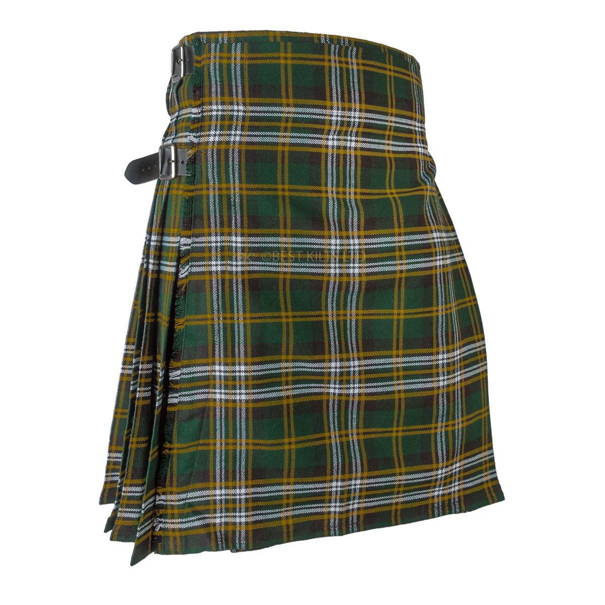 Best Kilts Men's Scottish 5 Yard Best Value Kilt Heritage Of Ireland (38''-40'')