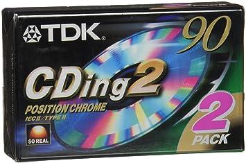 TDK - CDing2 Cromo - Cinta Cassette Virgen 90 Minutos/Pack de 2: Amazon.es: Electrónica