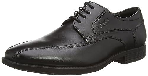 Sioux Kallon - Zapatos con Cordones de Cuero Hombre, Color Negro, Talla 42.5