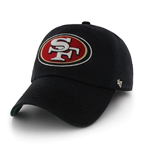 pretty nice ed975 3a2e0 NFL San Francisco 49ers  47 Brand Franchise Fitted Hat, Black, Small   Amazon.in  Sports, Fitness   Outdoors