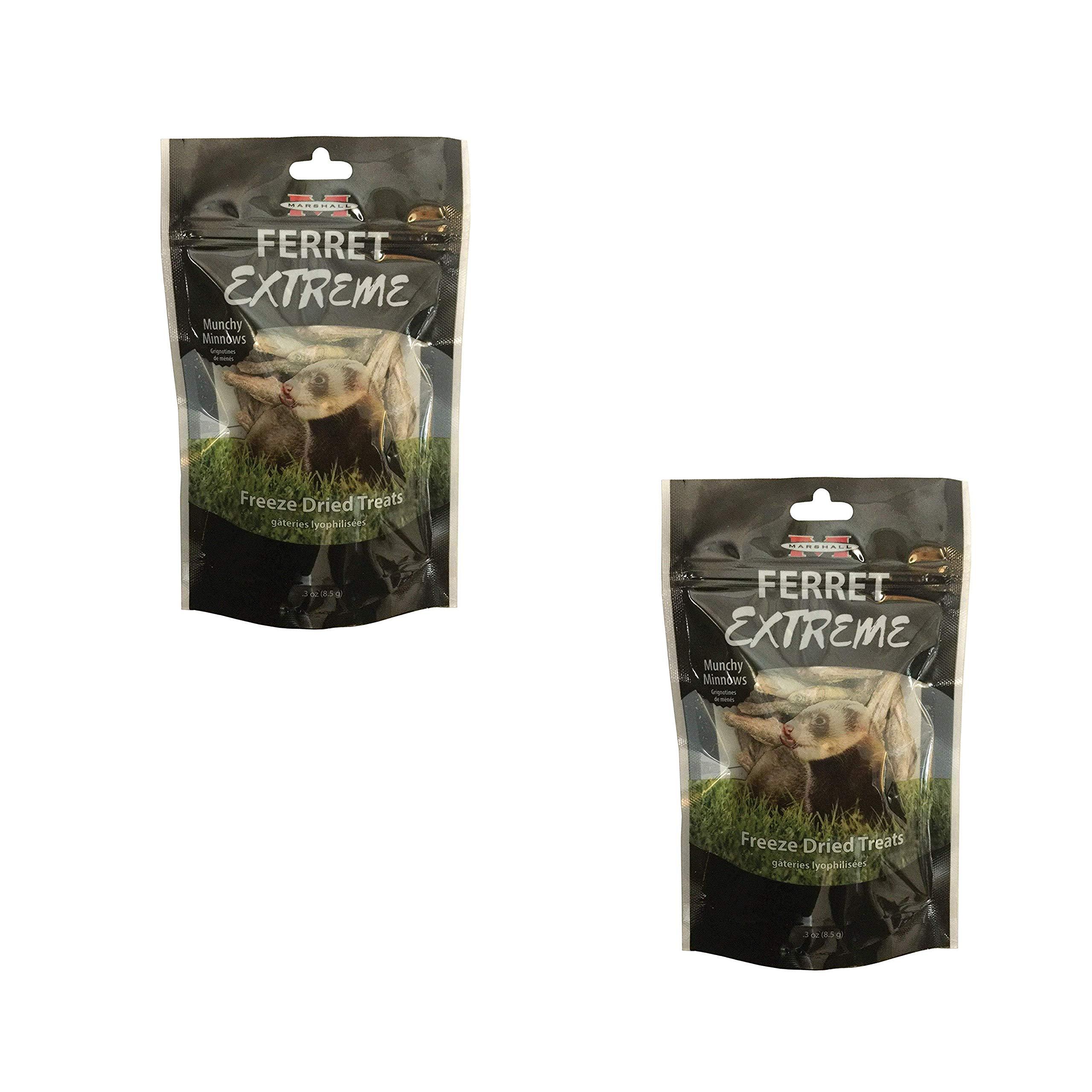 Marshall Pet Products Ferret Extreme Freeze Dried Munchy Minnows (2 Pack) by Marshall Pet Products