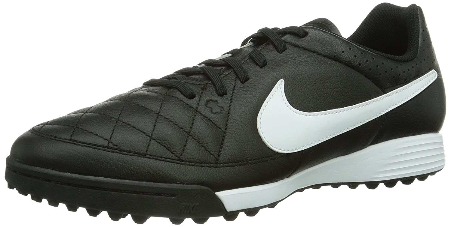 Amazon.com | Nike Mens Tiempo Genio Leather TF Soccer Shoe Black | Soccer