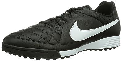 20a39cff Nike Tiempo Genio TF Herren Fußballschuhe, Schwarz (Black/White 010),  schwarz