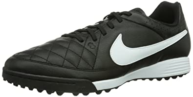 watch 341be d3697 Nike Tiempo Genio Leather Turf Trainer Black (Black White 010) 6 UK