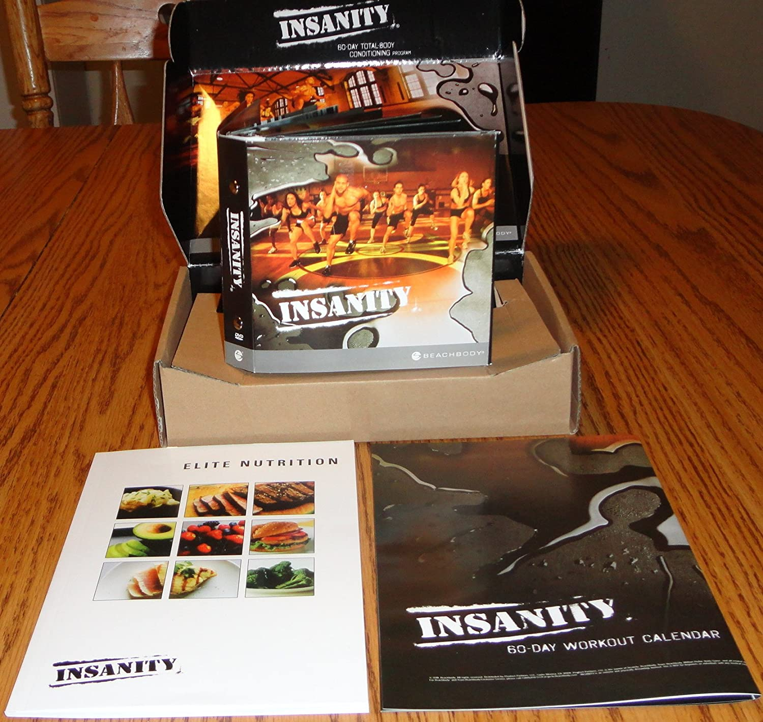 Amazon com : EMS ship Insanity 60 Day Workout 13DVD+ALL Guide