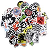 Laptop Stickers [100 pcs], Bezgar Car Motorcycle Bicycle Luggage Decal Graffiti Skateboard Stickers for Laptop Bumper, Rock and Roll Music Stickers- Random Sticker Pack