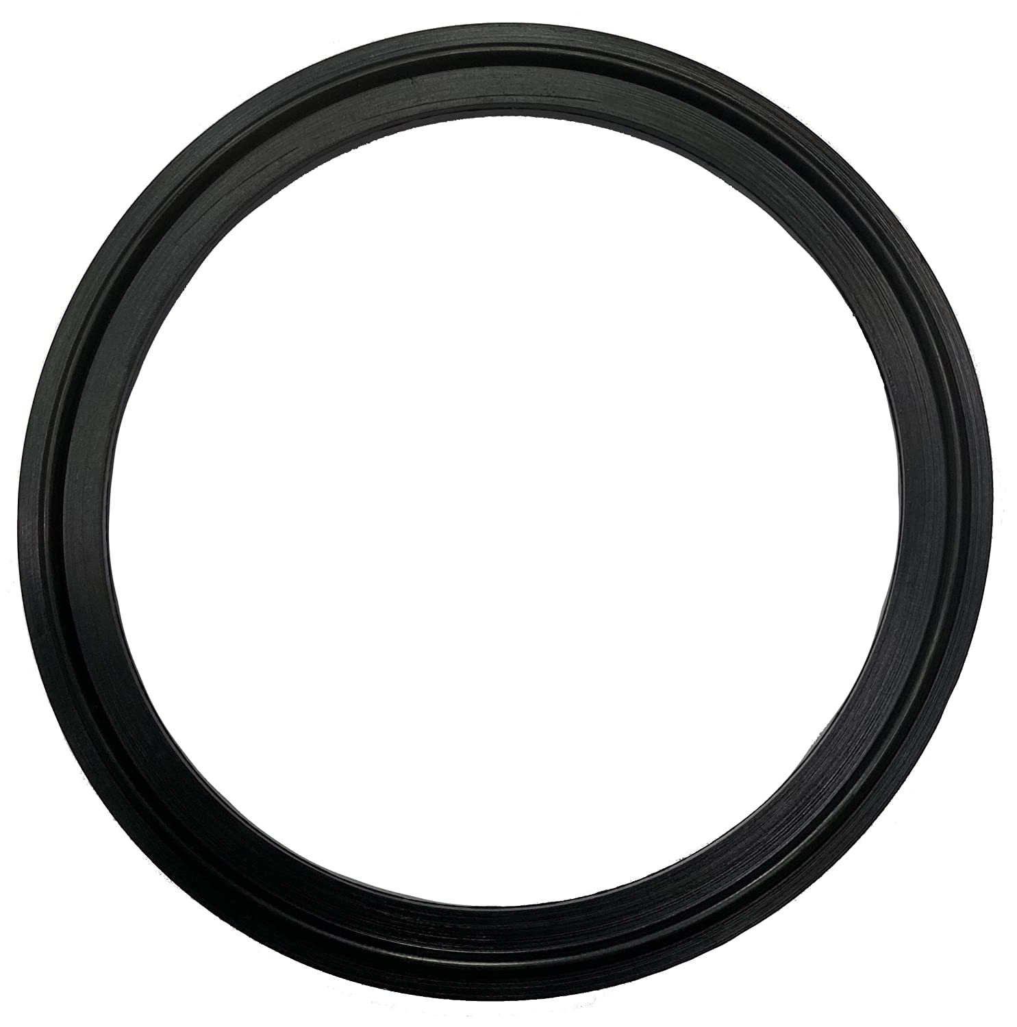 """DR-COMPONENT 4"""" Sanitary Standard Tri-Clamp Gaskets (Pack of 2), Black FKM-Viton"""