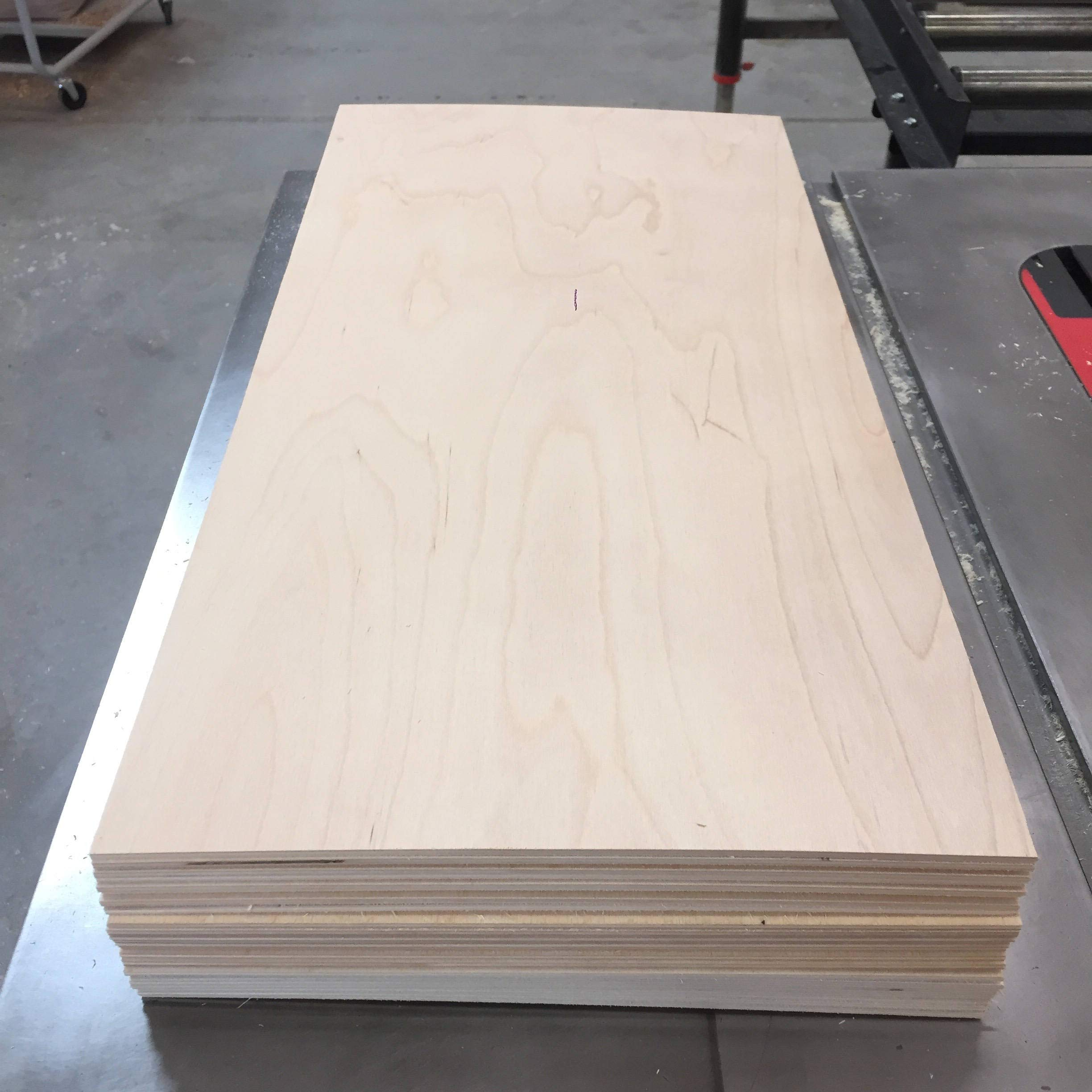 6MM 1/4'' x 12'' x 24'' Premium Baltic Birch Plywood Box of 4 B/BB Grade Birch Veneer Sheets one Clear face by The Kitchen Zone