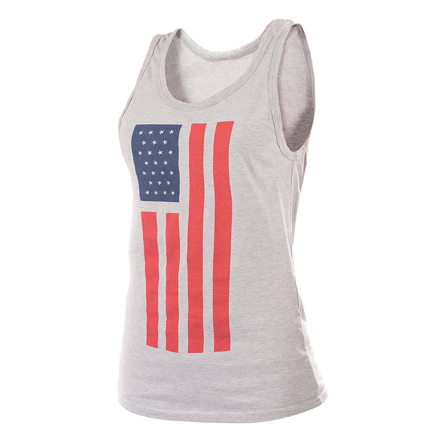 44fc4f7614191 Amazon.com  Epivive Patriotic American Flag Tank Top Shirt  Red ...