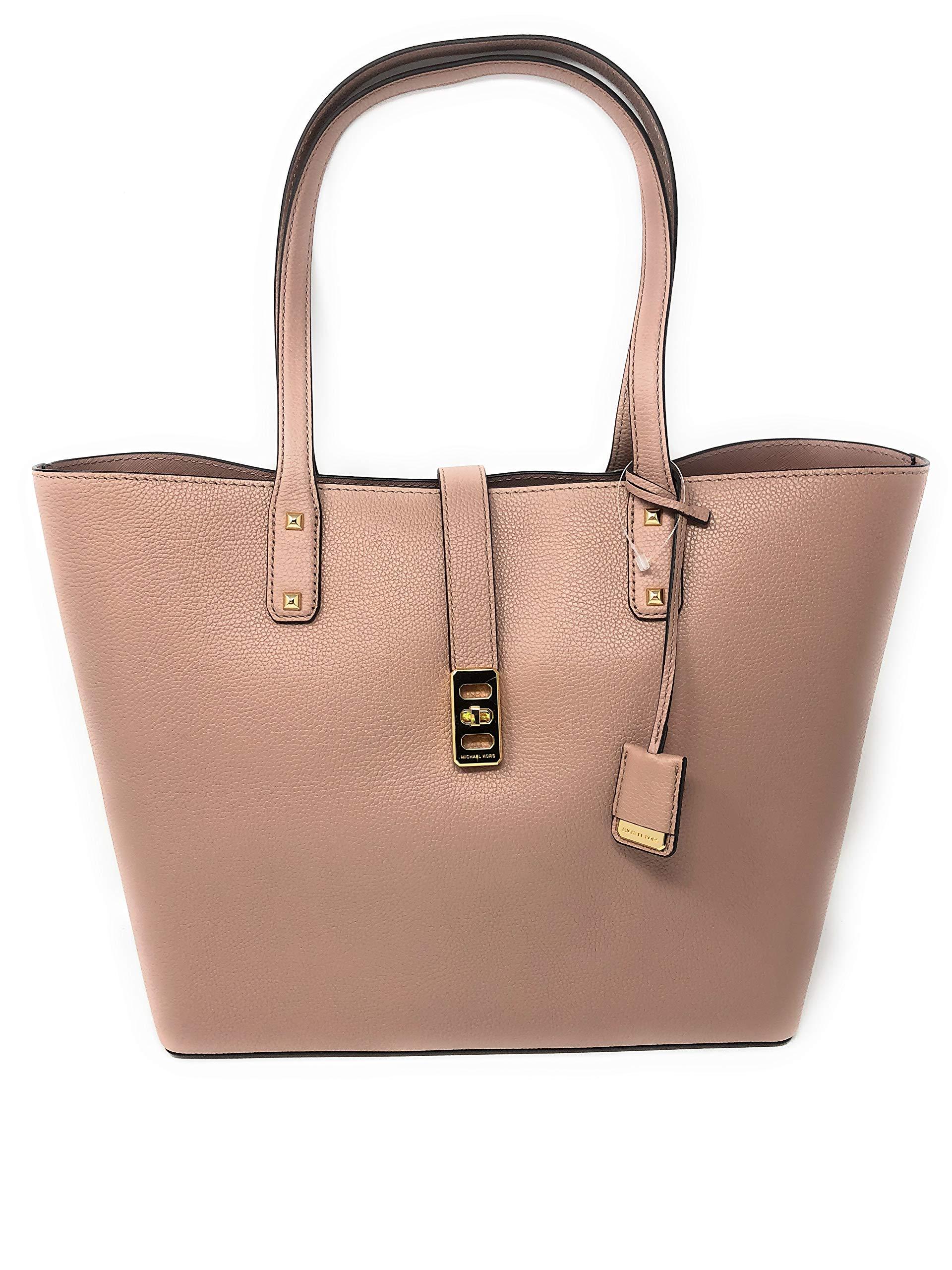 Michael Kors Karson Large Carryall Leather Tote Bag (Fawn)