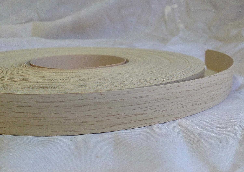 Pre Glued Iron on Light Ferrara Oak Melamine Edging Tape 19mm Wide x 5 metres .Free Postage Melamine edging 19mm wide