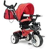 INJUSA Triciclo City Max para bebés desde los 8 meses, con control parental de dirección y ruedas con bandas de goma, rojo (3271)