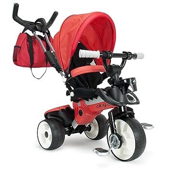 INJUSA - Triciclo City MAX para bebés Desde los 8 Meses, con Control Parental de