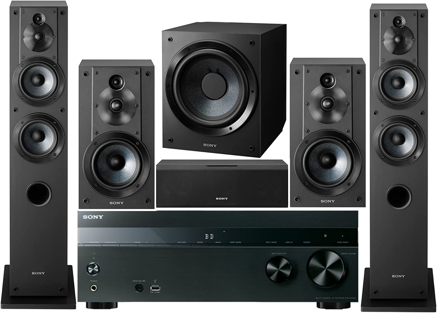 Amazon Com Sony 5 2 Channel 725 Watt 4k 3d A V Surround Sound Multimedia Home Theater System Electronics