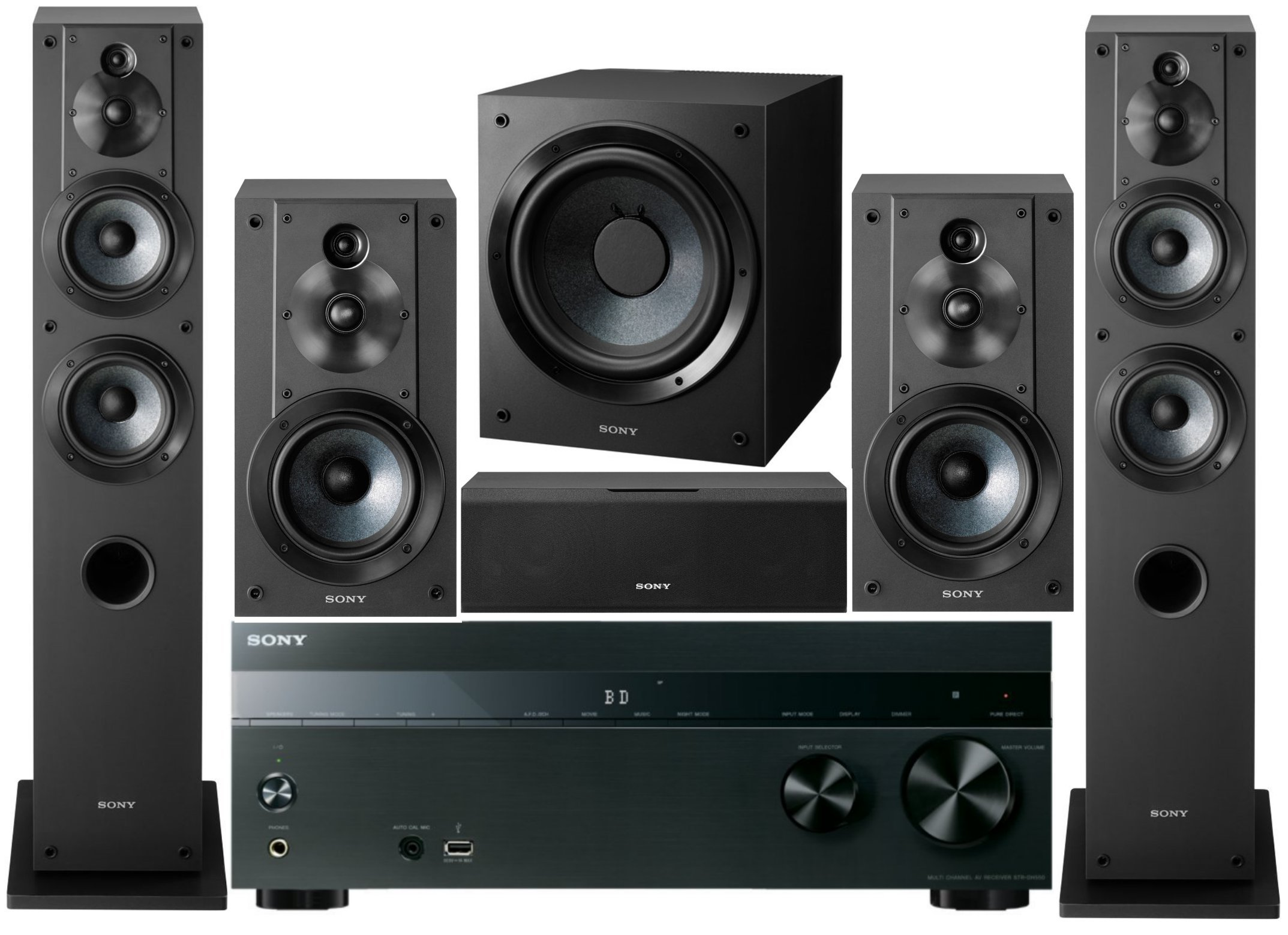 Sony 5.2-Channel 725-Watt 4K 3D A/V Surround Sound Multimedia Home Theater System by Sony
