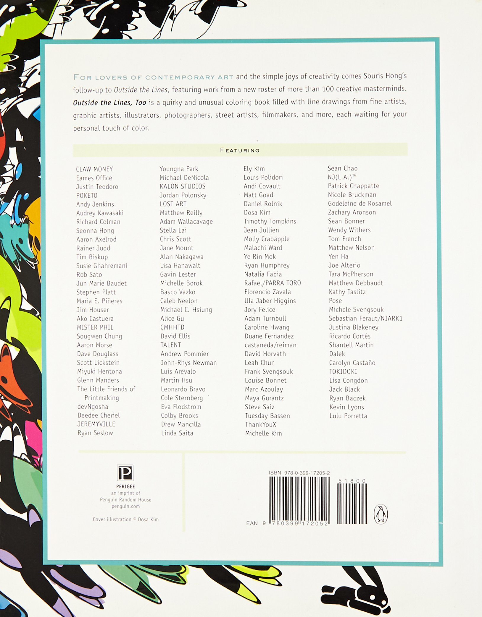 outside the lines too an inspired and inventive coloring book by creative masterminds souris hong 9780399172052 amazoncom books - Outside The Lines Coloring Book