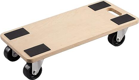 Rollbrett Möbelroller Transportroller 590x290 mm Holz Transporthilfe Umzug