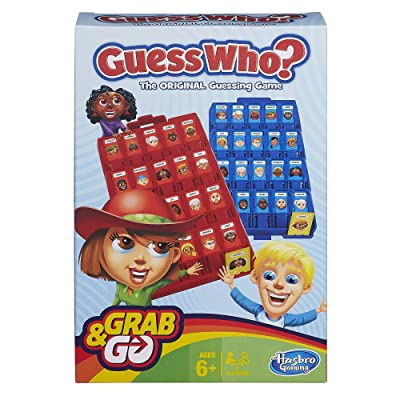 Hasbro Gaming Guess Who? Grab and Go Game: Toys & Games