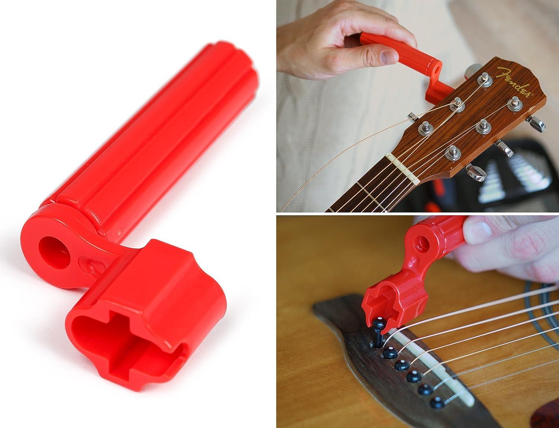 Kenley - Conjunto de herramientas profesionales para mantenimiento de guitarra Epiphone, Gibson, Fender, Floyd, Rosa, ukelele, acústica, eléctrica y bajos, ...