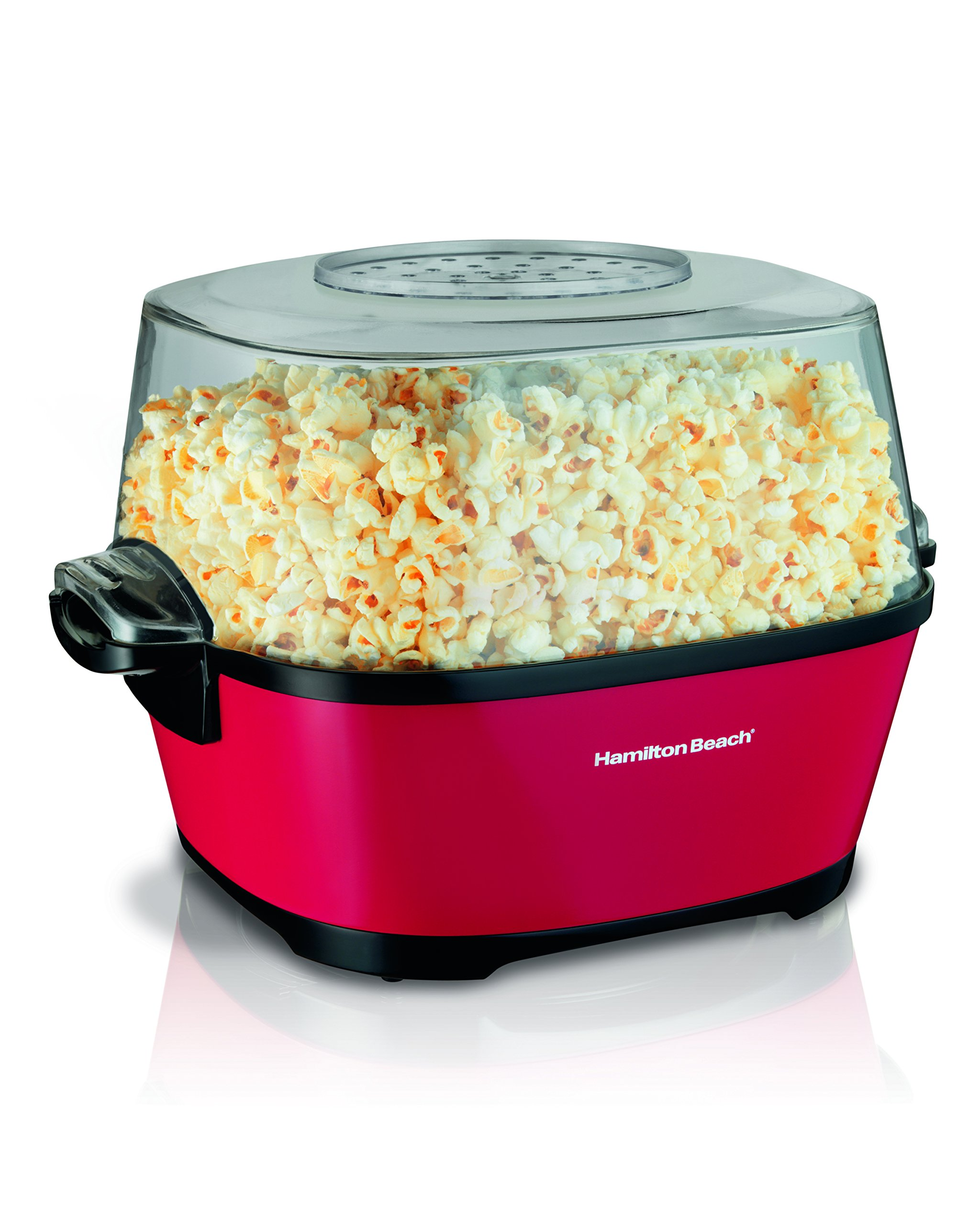 Hamilton Beach Electric Hot Oil Popcorn Popper, Healthy Snack Maker, 24 Cups, Red (73302) by Hamilton Beach