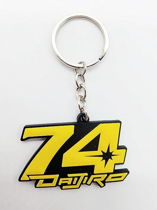 Motocicleta llavero cadena amarillo Gp 74 Racing koto ...